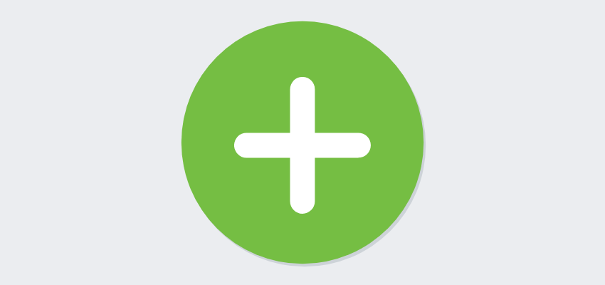 plus sign icon on green dot features registration software