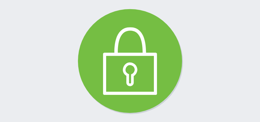 lock icon on green dot security registration software